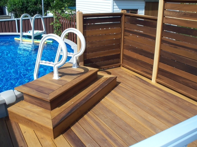 Gallery for Best timber to use for decking around a pool