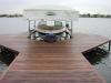 An exotic looking hardwood dock made from KAYU Batu
