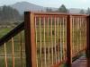 KAYU Batu railing at an Oregon beach house.