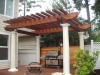 Pergola built with KAYU Dark Red Meranti