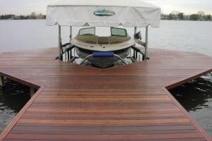 red balau boat dock