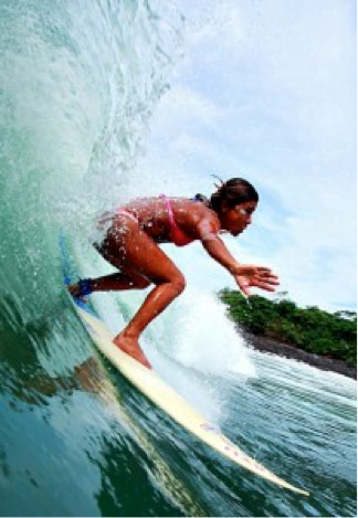 photo of Karol Baule surfing - Kayu Surfing El Salvador Team