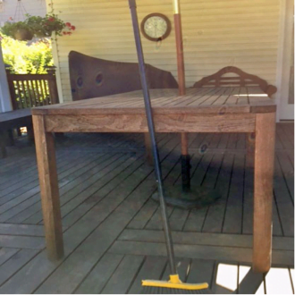 Cleaning the Smith's hardwood deck example