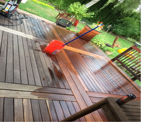before example hardwood deck brightening