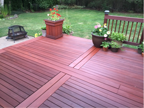 example finished hardwood deck after refinishing