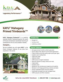 image of Kayu International product brochure
