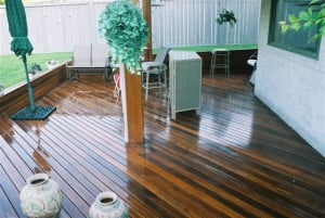 Dark Red Meranti Hardwood Decking