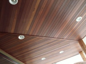 KAYU Dark Red Meranti tongue and groove