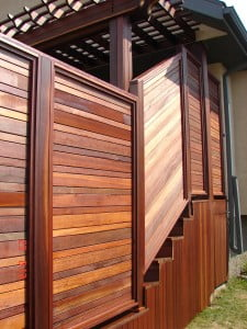Fence made with KAYU™ Batu