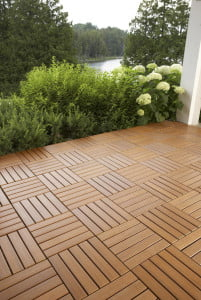 Hardwood Deck Tiles