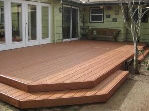 Pre finished mahogany hardwood decking