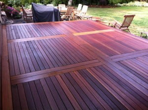 New Deck made with KAYU Batu 1 X 4 X 6'
