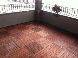 """20"""" X 20"""" KAYU Batu Hardwood Deck Tiles"""