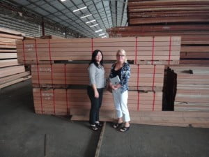 KAYU International Wives Inspecting Material to Ship to Western Canada